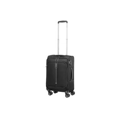 Mala de Bordo Pequena para Viagem em Poliéster SAMSONITE Popsoda Cadeado TSA e Rodas Duplas Preta