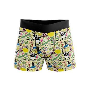 Cueca Boxer Goup Supply Geek Gênero:Homem;Tamanho:P;Cor:Amarelo