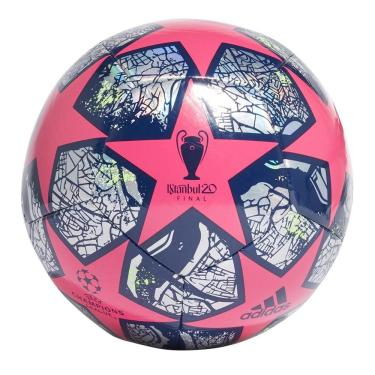 Bola Futebol Campo Adidas UEFA Champions League Istanbul FH7345, Cor: Rosa/Azul Marinho, Tamanho: 5