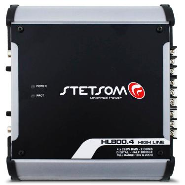 Modulo Stetsom 800 Rms Hl-800.4 Stereo Digital 4 Canais