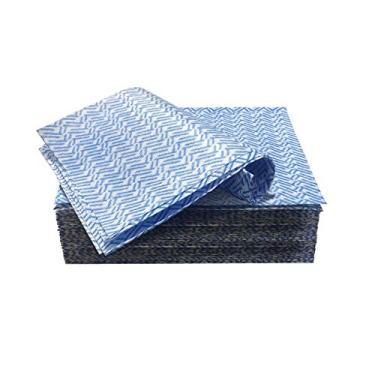 Pano Multiuso, Toalhetes de Limpeza Reutilizáveis, Toalhas de Cozinha e Domésticas, Pano de Limpeza Descartável, Pano de Louça Pano de Louça Pano de Louça Toalhas de Cozinha Reutilizáveis, 60 Unidades, Azul