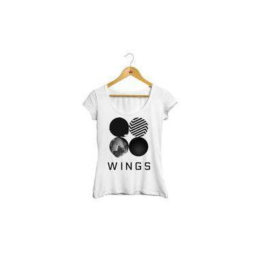 7bb3d2377a Camiseta Bts Feminina Blusa Bts Camisa Bts Baby look branca