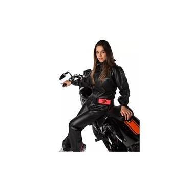 Capa de Chuva Feminina Alba Europa PVC Motociclista Motoqueiro Moto