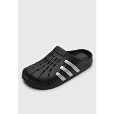 Sandália adidas Performance Adilette Clog Preto/Prata  masculino