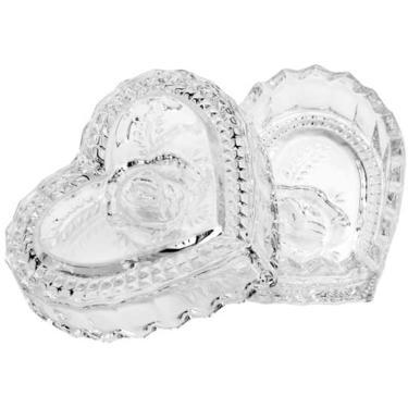 Mini Bomboniere Potiche Lyor De Cristal c/ Tampa Coração