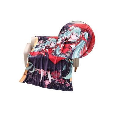 Hatsune Miku Cobertor de Flanela Cama Cobertor Sofá Tapete Dos Desenhos Animados Impresso Ultra Soft Comfort Viagem Camping Cobertor Escritório Cochilo