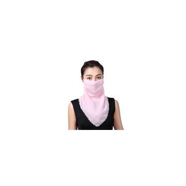 Verão ciclismo ao ar livre máscara rosa