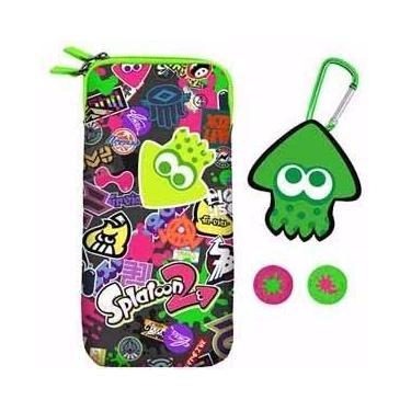 Kit Splatoon Case Porta Cartucho Splat Pach Nintendo Switch