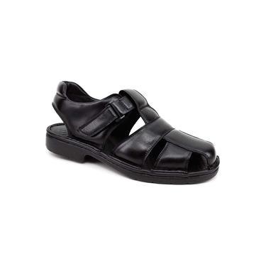 Sandália Masculina Pipper 6501 Couro Preto
