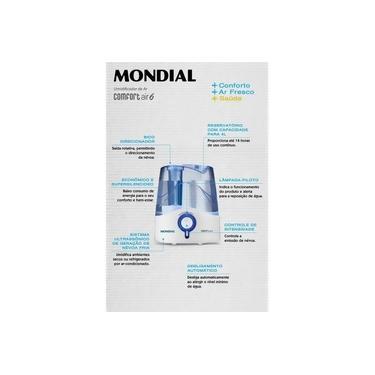 Imagem de Umidificador de Ar Confort Air 6, Bivolt UA-07 - Mondial, Branco/Azul