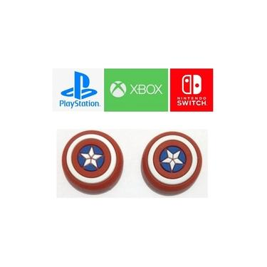 Par Capa Analogico Nintendo Switch Xbox Series X S One Ps4 Ps5 Grip Xone Capitao America