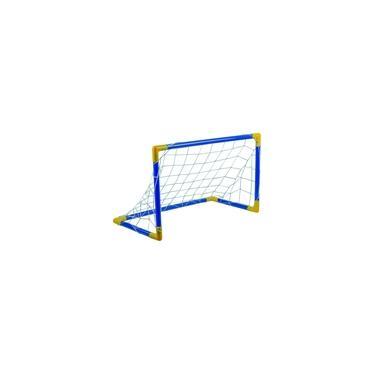 Imagem de Jogo Futebol Trave Azul Infantil Chute A Gol C/ Rede Grande