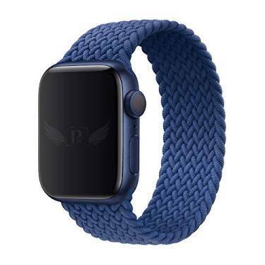 Pulseira Trançada Infinito compatível com Apple Watch 44mm Series 6 - Apple Watch 42mm Series - Marca LTIMPORTS (Azul - Tamanho [P] (130 até 150mm))