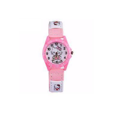 f0f0e445a79 Relógio Infantil Pulso Hello Kitty Quartzo Presente