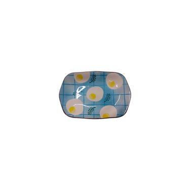 Imagem de Travessa Hexagonal Cerâmica Para Saladas - Ovos