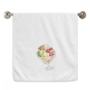 Imagem de DIYthinker Toalha de mão laranja cereja morango fruta doce sorvete toalha de mão de algodão macio toalha de rosto