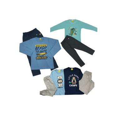 Kit Conjunto Menino Meia Estação (Camiseta Manga Longa + Calça Moleton)