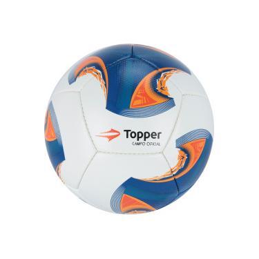 ef3ccc4f6f264 Bola de Futebol de Campo Topper V 12 - BRANCO AZUL Topper