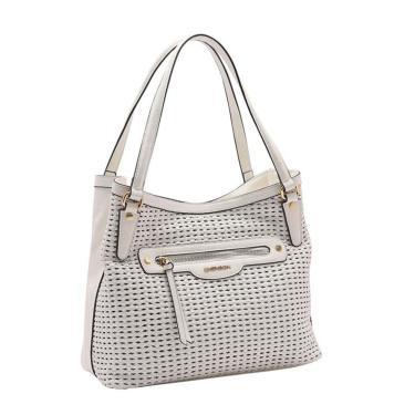 Bolsa Feminina Chenson Tressê Soft  de Ombro Branco 3483227  feminino