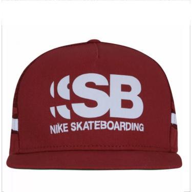 Boné Nike Aba Reta SB Cut Trucker 805025 - Vinho