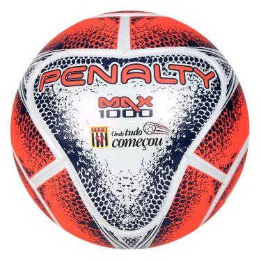 Bola Futsal Max 1000 Term FPFS VIII Penalty - Branco Laranja Marinho eeb92eb0dd129
