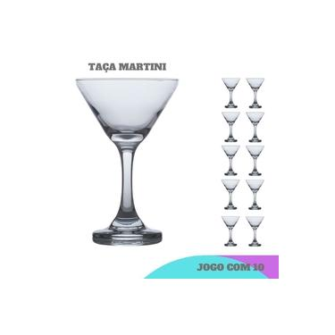 Conjunto 10 Taça Martini Crystal luxo 274 ml Casa linda