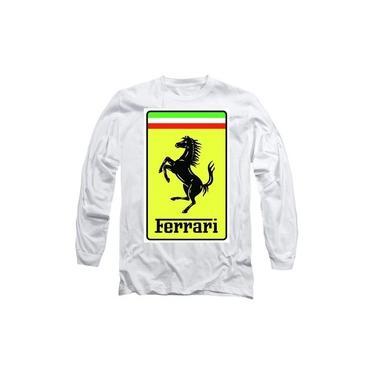 Moletom Tumblr Feminina Ferrari Logo Amarelo