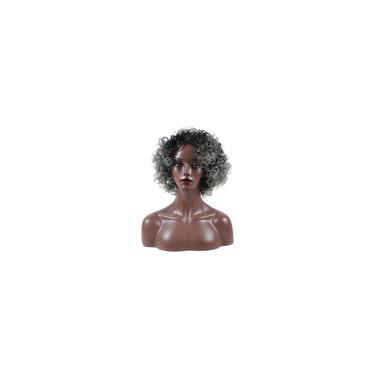 Imagem de Peruca de cabelo humano curto encaracolado