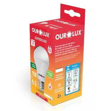 Kit 10 Lâmpadas Bulbo LED 9W 6500K Ourolux