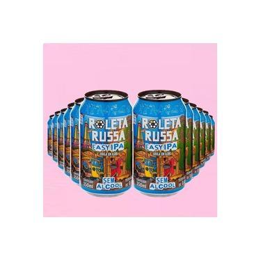 Cerveja Easy IPA Roleta Russa Sem Álcool e sem Glúten - 12 Latas 350 ml - Nacional