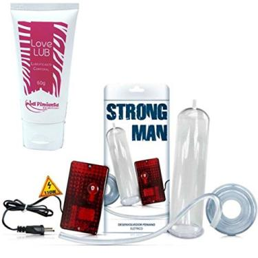 Imagem de Bomba Peniana Elétrica 110v Strong Man + Lubrificante