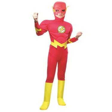 e9846d50a Fantasia Flash Luxo Infantil Liga da Justiça Com musculatura - P 2 - 4