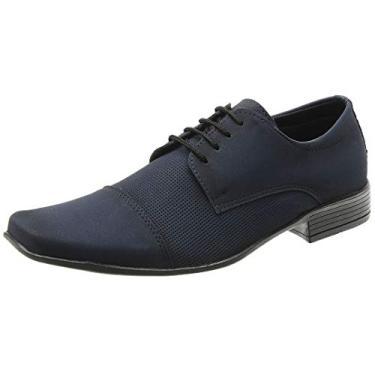 Sapato Social Masculino Italiano San Lorenzo Cor:Azul;Tamanho:37