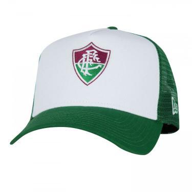 Boné Aba Curva do Fluminense New Era 940 - Snapback - Trucker - Adulto New Era Unissex