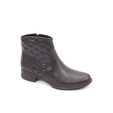 bota feminina cano baixo em legitimo couro bovino , solado de borracha antiderrapante clacle modelo 312 N.Mestiço Cafe 25 ao 40