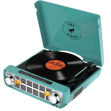 Toca-Discos Vinil Bronco Lp Ion C/ Rádio, Usb, Entrada Aux E Conversão Digital - Verde