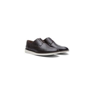 Sapato Casual Oxford Masculino Couro Fóssil Preto 206