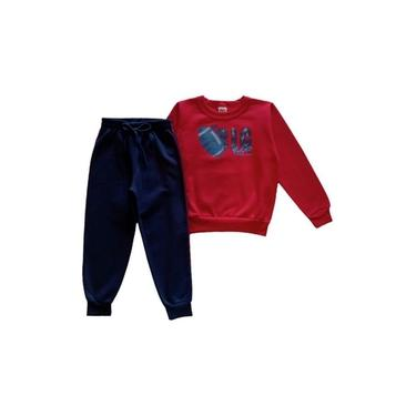 Conjunto Inverno Infantil Masculino - Vermelho - Elian