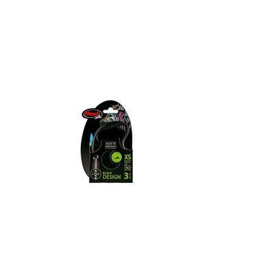 Guia Flexi Black Design Corda PP 3m - Azul p/ cães