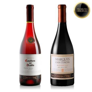 Kit Com 2 Vinhos Importados Pinot Noir 750 Ml - Concha Y Toro