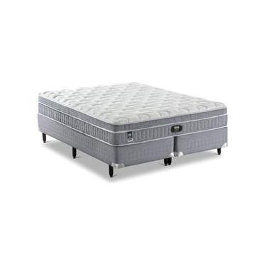 Imagem de Conjunto Cama Box + Colchão King Size Mannes Individual Comfort - 193x203