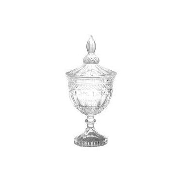 Bomboniere Cristal C/ Pé 24.5 Cm Brandon Lyor