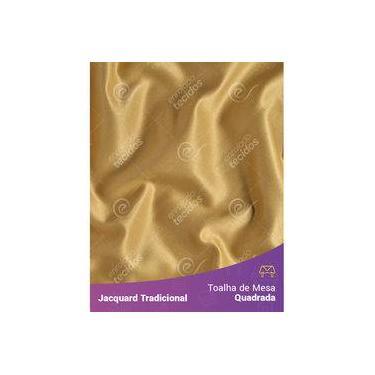 Imagem de Toalha De Mesa Quadrada Em Tecido Jacquard Dourado Liso Tradicional