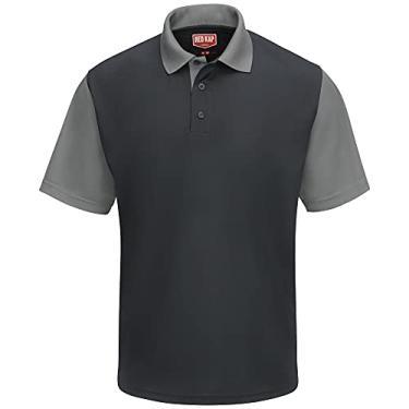 Imagem de Camisa polo Red Kap Performance SK56, Charcoal / Grey, 6XL