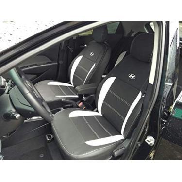 Imagem de Capas Em Couro Sintetico Para Bancos Automotivos Carro Hyundai Hb20 Hb20s Hb20x