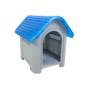 Casinha para Cachorro Medio Porte Plástica Mec N.3 Azul