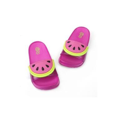 Sandália Inf. Fem. Plugt Slide Melancia Pink- 210.030.004