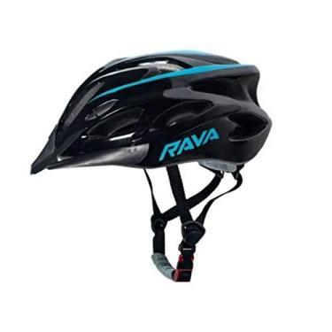 Capacete Para Ciclismo Azul Tamanho Médio 54 a 57 cm C/Viseira In Mold Rava