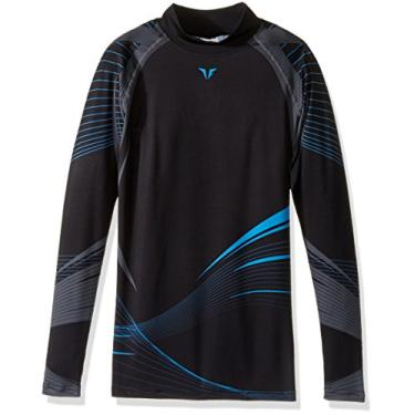 Imagem de Camisa esportiva masculina de compressão com camada base de compressão 004 cinza-vento premium, Multi-color, X-Large