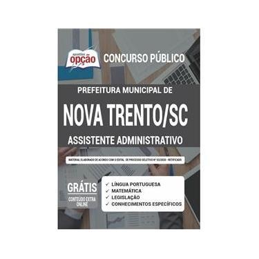 Imagem de Apostila Prefeitura Nova Trento Sc Assistente Administrativo